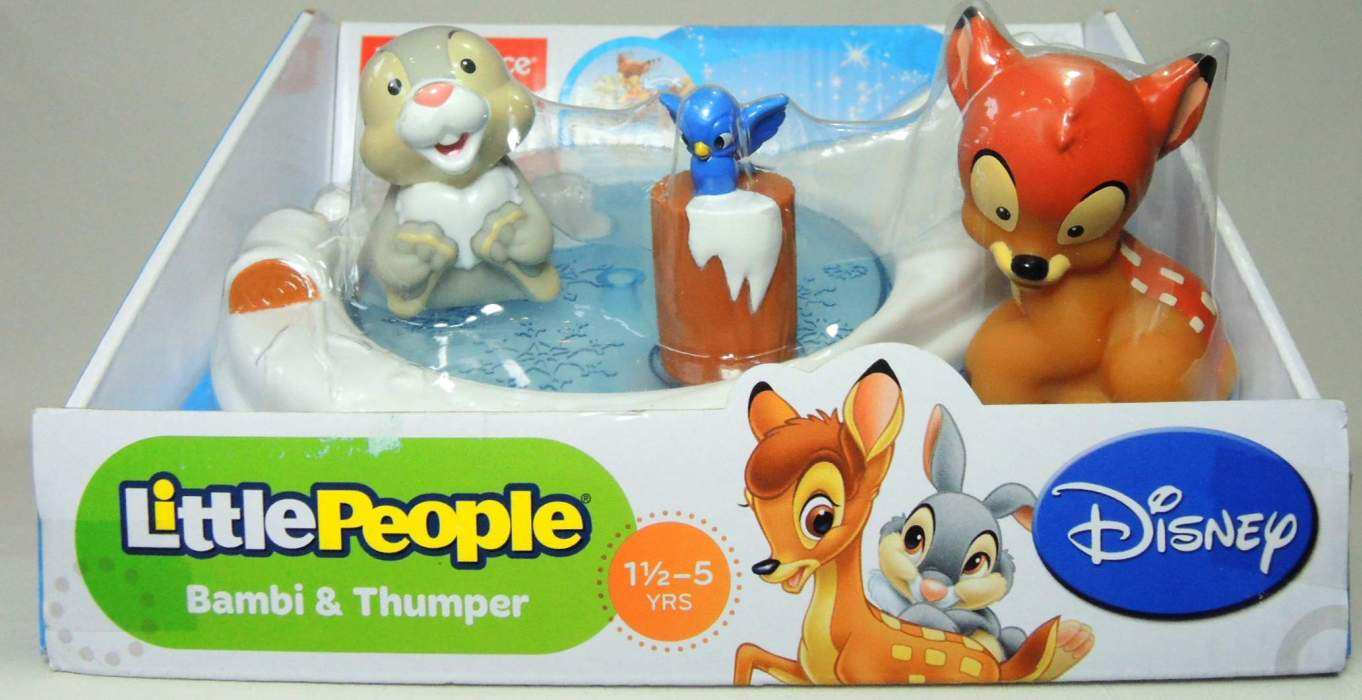 Fisher-Price Little People Disney Movie Moments - Bambi & Thumper Fisher-Price, Little People, Preschool, 2013, kidfare