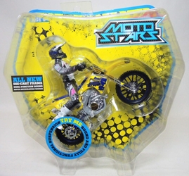 Moto Stars Motocross Bike with Articulated 5 inch Figure (yellow)
