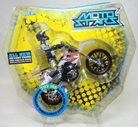 Moto Stars Motocross Bike with Articulated 5 inch Figure (white)