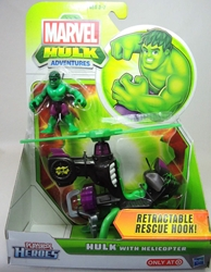 Playskool Heroes 2.5 inch Figures - Hulk with Helicopter Hasbro, Marvel, Action Figures, 2012, superhero, comic book