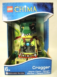 Lego Legends of Chima Alarm Clock - Cragger Lego, Legends of Chima, Legos & Mega Bloks, 2013|Color~green|Color~tan, adventure