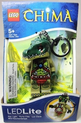 Lego Legends of Chima LED Lite keychain - Cragger Lego, Legends of Chima, Keychains, 2013|Color~green, adventure