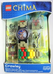 Lego Legends of Chima watch - Crawley Lego, Legends of Chima, Watch, 2013|Color~tan|Color~green|Color~red|Color~yellow, adventure