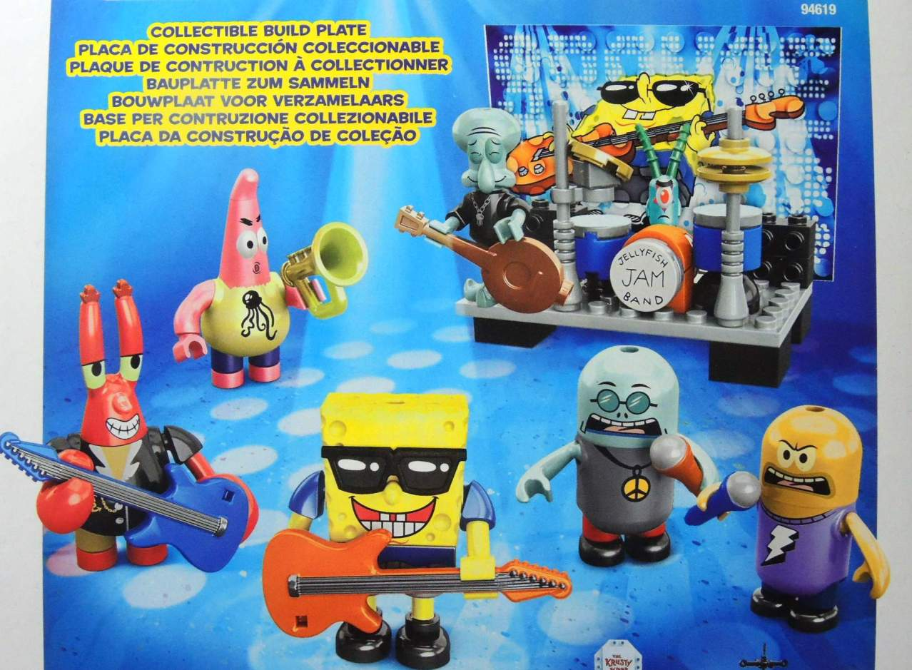 Mega Bloks SpongeBob Rock Band Figure 6-Pack - 8322-8319CCCHTC