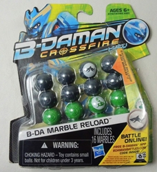 B-Daman Crossfire - Reload Set with 16 marbles (gray & green) Hasbro, B-Daman, Action Figures, 2013, scifi, game