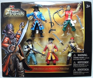 True Legends 5-pack of 4 inch Pirate Figures Toys R Us, True Legends, Action Figures, 2014, fantasy