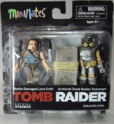 Diamond Minimates Tomb Raider 2-pack Lara Croft & Scavenger Diamond Select, Tomb Raider, Action Figures, 2013, action, adventure, video game