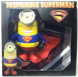 Despicable Me PVC Minion Figure - Superman Stuart 7 inch China, Despicable Me, Action Figures, 2015, animated, movie