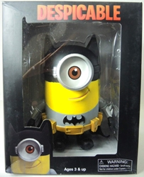 Despicable Me PVC Minion Figure - in Batman costume 7.5 inch China, Despicable Me, Action Figures, 2015|Color~yellow|Color~black|Color~grey, animated, movie