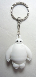 Big Hero 6 - Baymax  1.8 inch Rubber Keychain China, Big Hero 6, Keychains, 2015|Color~white, scifi, cartoon