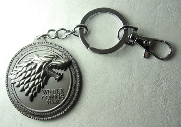 Game of Thrones Alloy Keychain - House Lannister Emblem China, Game of Thrones, Keychains, 2012|Color~pewter, fantasy, tv show