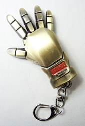 Iron Man Glove alloy keychain (brushed bronze) China, Iron Man, Keychains, 2015|Color~bronze, scifi, movie