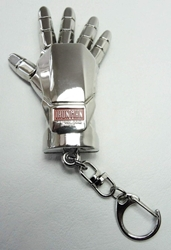 Iron Man Glove alloy keychain (bright chrome) China, Iron Man, Keychains, 2015|Color~chrome, scifi, movie