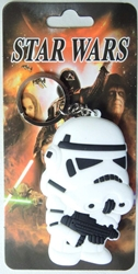 Star Wars 3 inch Soft Plastic keychain - Stormtrooper China, Star Wars, Keychains, 2015|Color~white|Color~black, scifi, movie