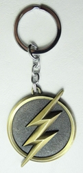 DC The Flash alloy keychain - Lightning Emblem China, DC, Keychains, 2015|Color~brass|Color~black, superhero, comic book