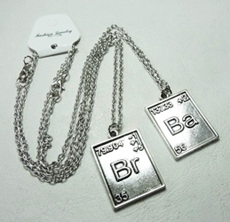 Breaking Bad - Set of Br & Ba Alloy pendant necklaces China, Breaking Bad, Necklace, 2015|Color~pewter, action, tv show