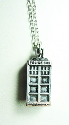 Dr Who Tardis alloy pendant necklace (silver finish) China, Dr Who, Necklace, 2015|Color~slver, scifi, tv show