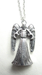 Dr Who Weeping Angel alloy pendant necklace (silver finish) China, Dr Who, Necklace, 2015|Color~silver, scifi, tv show