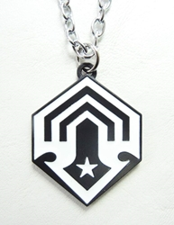 Halo 4  - Shield Emblem for the Corbulo Academy of Military Science - alloy pendant necklace China, DC, Necklace, 2015|Color~black|Color~white, superhero, comic book