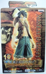 One Piece Banpresto Grandline Men Vol 1  Luffy 6 inch (wine vest) China, One Piece, Anime Figures, 2009, anime, japan