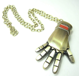 Iron Man Glove alloy necklace (brushed bronze) China, Iron Man, Necklace, 2015|Color~bronze, scifi, movie