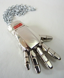 Iron Man Glove alloy necklace (chrome finish) China, Iron Man, Necklace, 2015|Color~chrome, scifi, movie