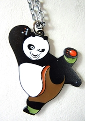 Kung-Fu Panda alloy pendant necklace China, Kung-Fu Panda, Necklace, 2015|Color~black|Color~white, animated, movie