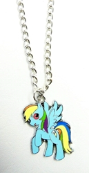 My Little Pony pendant alloy pendant necklace (blue pony) China, My Little Pony, Necklace, 2015|Color~blue|Color~yellow, cute animals