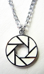 Portal Aperture Logo alloy pendant necklace