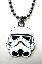 Star Wars Stormtrooper Mask alloy pendant necklace China, Star Wars, Necklace, 2015|Color~white, scifi, movie