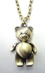 Ted Teddy Bear alloy pendant necklace China, Ted, Necklace, 2015|Color~brass, comedy, movie
