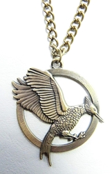 Hunger Games MockingJay with Arrow alloy medallion necklace China, Hunger Games, Necklace, 2015|Color~bronze, scifi, movie