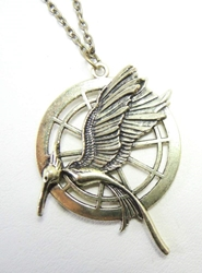 Hunger Games MockingJay in Flight alloy medallion necklace China, Hunger Games, Necklace, 2015|Color~brass, scifi, movie