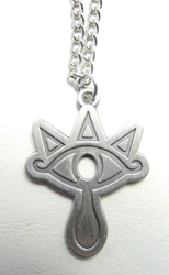 The Legend of Zelda - Eye symbol of the Sheikah tribe - alloy pendant necklace China, The Legend of Zelda, Necklace, 2015|Color~pewter, fantasy, video game
