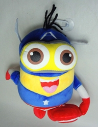 Despicable Me 8 inch plush Minion - Captain America Costume China, Despicable Me, Plush, 2015, animated, movie