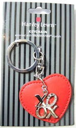 Harvey Lewis Valentine XOXO keychain accented with Swarovski crystals