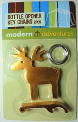Modern Adventures Deer & Bottle Opener Keychain