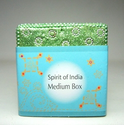 Spirit of India Medium Bejeweled Keepsake Box (green) Target, Spirit of India, Novelty Jewelry, 2005|Color~green