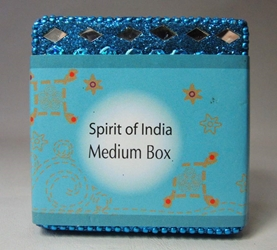 Spirit of India Medium Bejeweled Keepsake Box (aqua) Target, Spirit of India, Novelty Jewelry, 2005|Color~aqua