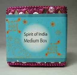 Spirit of India Medium Bejeweled Keepsake Box (purple) Target, Spirit of India, Novelty Jewelry, 2005|Color~purple