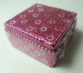 Spirit of India Small bejeweled Keepsake Box (purple) Target, Spirit of India, Novelty Jewelry, 2005|Color~dark pink