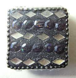 Spirit of India bejeweled Square Pill Box (black) Target, Spirit of India, Novelty Jewelry, 2005|Color~black