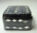 Spirit of India bejeweled Square Pill Box (black) - 8578-8573CCCFVT