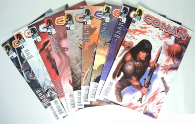 Dark Horse 2004 Conan 1-9 comic books Dark Horse, Conan, Comic Books, 2004, fantasy, movie