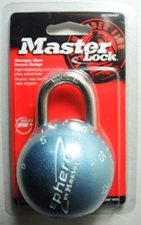 Master Lock Sphero Combination Lock (metallic blue)