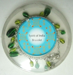 Spirit of India bracelet (green) Target, Spirit of India, Novelty Jewelry, 2005|Color~green