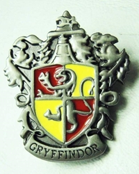 Harry Potter metal alloy pin - Gryffindor Crest China, Harry Potter, Novelty Jewelry, 2015|Color~pewter|Color~yellow|Color~red, fantasy, book