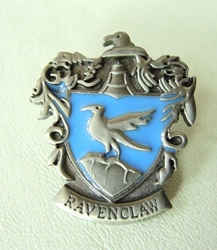 Harry Potter metal alloy pin - Ravenclaw Crest China, Harry Potter, Novelty Jewelry, 2015|Color~pewter|Color~blue, fantasy, book
