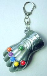 Marvel Infinity Gauntlet The Fist of Thanos alloy keychain China, Marvel, Keychains, 2015|Color~silver|Color~multicolor, superhero, comic book