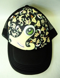 Kiseiju black cap with Parasite Migi waving China, Kiseiju, Hats, 2015|Color~black|Color~fleshtone, anime